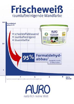 Auro Frischeweiss Abbaukurve Formaldehyd